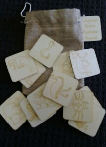 Natural wooden flash cards for language building - AUSTRALIAN ANIMALS