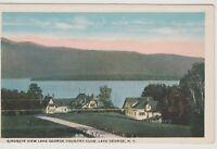 Lake George Country Club vintage postcard, Lake George New York
