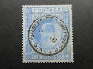 1902 KEVII 10/-  VFU with well centred CDS - nice stamp - Cat £500