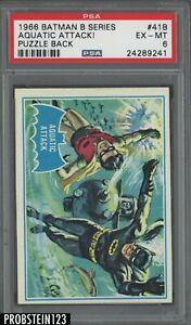 1966 Batman B Series Puzzle Back #41B Aquatic Attack ! PSA 6 EX-MT