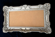 Großer Bilderrahmen xxl  Barock Antik Silber 97x57 Gemälde Rahmen Fotorahmen