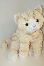"GUND Tabby Cat LARGE plush cream striped  pink collar lying down 18-22"" floppy"