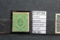 STAMPS GERMANY EMPIRE YVERT N°3 MH* (F107154)