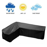 Waterproof Couch Sofa L Shape Lounge Covers Outdoor Rattan Sofa Cover Slipcover