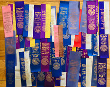 Lot of 60 Akc 1941 & 1942 Dog Show Award Ribbons MidWest/Northeast, Schnauzer +