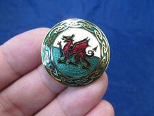 *New Celtic Lands Gold Tone & Enamel Dragon Pin Brooch by Sea Gems