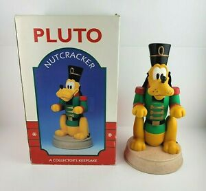 Christmas Walt Disneys Pluto Nutcracker 13.5in Tall 1995 Kurt Adler Vintage Rare