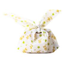 20X rabbit ear cookie bags adhesive Plastic for Baking Snack Pack Food Bag N8X4