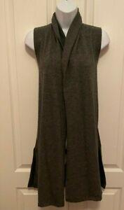 J.M. Fleurette Women Gray long sleeveless Cardigan M