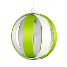Modern Round Green  Cream Fabric Ceiling Light Pendant Lamp Shade Lampshade