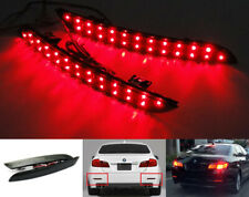 Black Smoked Len LED for 11-14 BMW 5-Series F10 F18 Bumper Reflector Tail Light