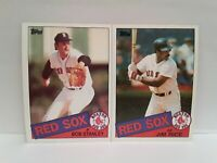 RED SOX 1985 Topps Jim Rice + Bob Stanley UNCIRCULATED