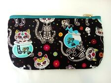 Pencil Case Gothic Black Mexican Day Of The Dead Kitty Great Cool Gift Idea New