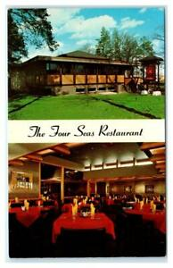 ANN ARBOR, Michigan MI ~ Roadside FOUR SEAS CHINESE RESTAURANT c1960s  Postcard