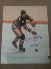 Dave Christian Signed 1980 Olympic Hockey 8 x 10