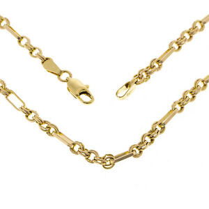 Pre Owned  9ct Yellow Gold 24 inch Fancy link Chain