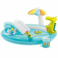 """Intex Gator Inflatable Pool Play Center 80"""" x 68"""" x 35"""" For Ages 2 Kiddie Kids"""