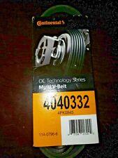 4040332 Continental Elite multi V Serpentine Belt 4040332 4PK0845 90,000 Miles