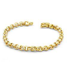 9 Ct Gold Filled Belcher Bracelet Teenager or Lady 7.5 Inch 19.5cm B14