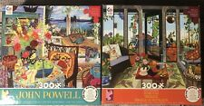 Lot Of 2 Ceaco Puzzles 300 Pieces With Posters Included