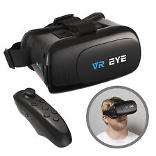 VR Eye 3D Virtual Reality Glasses Headset + Bluetooth Controller for Android