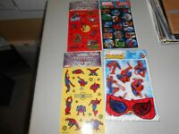 Lot of 4 Unopened Spider-man and Marvel Heroes Sticker Packages