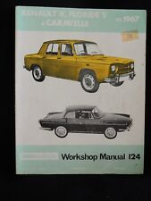 RENAULT '8', FLORIDE 'S' & CARAVELLE TO 1967-INTEREUROPE WORKSHOP MANUAL 124/S.C