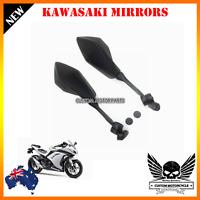2x Black E-mark Rear View Side Mirrors Kawasaki Ninja 300 R EX300 ABS 13-14
