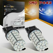 2x7443 7440 60-3528-SMD Blue-Amber Dual Color Switchback Front Turn Signal Light