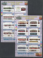 Tram Tramway USSR Cars Sochi 2014 Olympics 2013 Ambazonia MNH set 2 sheets perf