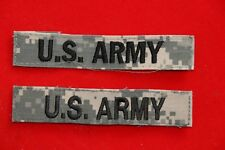 GENUINE US ARMY NAME TAPE NEW SEW ON TYPE CAMO  CLOTH ACU 2 X PIECES
