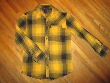 Tony Hawk Cuadros Camisa de Franela Negro Amarillo Leñador Retro Grunge Skater S
