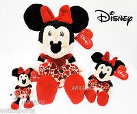 Peluche Minnie Cuore con Lucchetto 3 misure Originale Disney San Valentino Amore