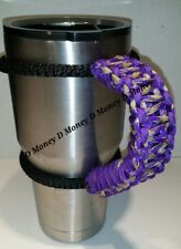 Paracord Handle for 40oz, 30oz, or 20ozYeti Ozark & Aritic Acid Purple Pattern