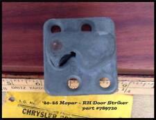 NOS 1946-1948 Mopar Right Door Striker Plymouth 1941-1947 Chrysler Dodge Desoto