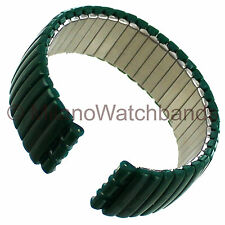 17mm Morellato Trans-Green Polymer and Stainless Steel Watch Band Fits Swatch