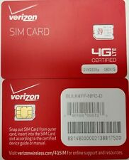 VERIZON NANO 4 FF SIM Card • CDMA 4G LTE • NEW Genuine OEM • Prepaid or Contract