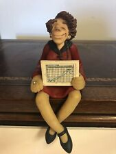 Limited Edition Stock Market Stock Broker Clay D. Manning Shelf Sitter