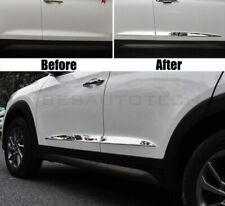 Hyundai Tucson 2015-2019 Métal Chrome Côté Porte Bannière Bords Acier Inoxydable