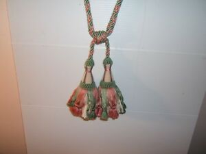"Brunschwig & Fils, Isabella, Drapery Tiebacks, 7"" Double Tassel, Various Colors"