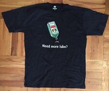 """NEW Jagermeister """"Need More Lube?"""" Funny Alcohol Black T-Shirt Mens Size Large"""