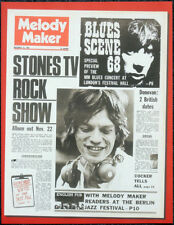 THE ROLLING STONES POSTER PAGE . MELODY MAKER 16 NOV 1968 FRONT COVER . N8