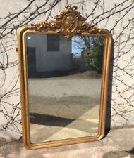 Elegante specchiera con cimasa dorata a foglia