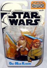 Star Wars Animated Clone Wars Obi-Wan Kenobi Action Figure MIB Cartoon Network