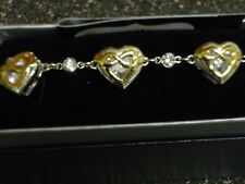 Montana Silversmiths Two Tone Ribbon Heart Bracelet New With Tags!!!!