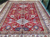 "Oriental Rug Fine super Kazak Wool  Hand Knotted Tribal Design Rug 8'0"" X 10'4"""