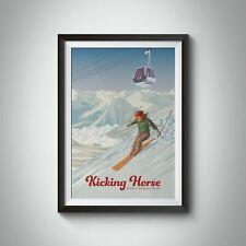 More details for kicking horse golden canada ski resort travel poster - bucket list prints