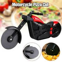 Stainless Steel Motorcycle Pizza Cutter Pizza Cake Roller Slicer Kitchen Gadget.