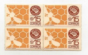 MEXICO EXPORTA SERIES BLOCK OF FOUR  HONEY  Mint Never Hinged