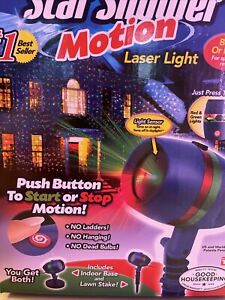 Star Shower Motion Laser Light Outdoor Projection House Christmas - New